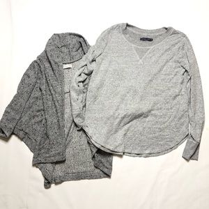 Lot of 2 Abercrombie & Fitch Sweater Cardigan M